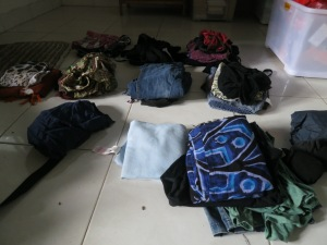 Backpackers packing